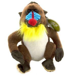 1 X PLUSH MANDRILL 17CM teddy soft toy stuffed animal monkey lion king christmas