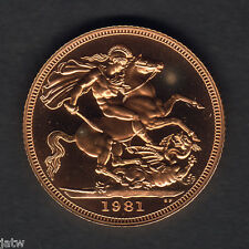 New listing Great Britain. 1981 Gold Sovereign. Proof