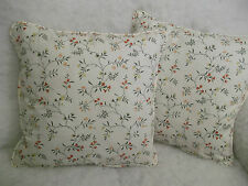 "REMEMBERENCE BY D & N 1 PAIR OF 18"" CUSHION COVERS - DOUBLE SIDED/PIPED/ZIPPED"