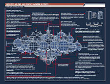 Large Framed Print - Doctor Who Tardis Type 40 Blueprint (Picture Poster Art)