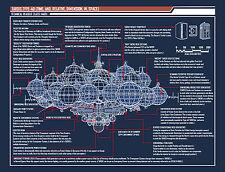 GRANDE stampa incorniciata-Doctor Who Tardis tipo 40 BLUEPRINT (PICTURE POSTER ART)