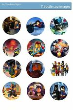Batman Lego BADGE Buttons Party Favour Lolly Bag Loot Birthday Card Toy Figure