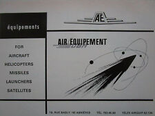 5/1969 PUB DBA AIR EQUIPEMENT AVION HELICOPTERE LANCEUR ENGIN SATELLITE AD