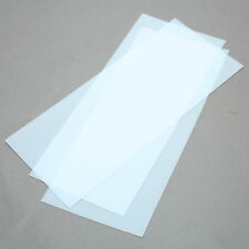 "Plexiglass (?) Sheets 0.02"" (0.5mm) Thick, Clear 11"" x 4-7/8"" pack of 3"