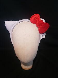 Hello Kitty Sanrio Licensed Headband Red Bow Plush Ears Cosplay