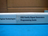 AGILENT TECHNOLOGIES ESG FAMILY SIGNAL USERS, INSTALLATION, QUICK START GUIDE
