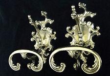2 x Wandhaken Antik Garderobenhaken Kleiderhaken Messing Gold 11x18,5