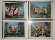 "1986 Ars Ag, cham/Zg Switzerland Mj Hummel Kids Placemats 12"" x 9"" Set Of Four"