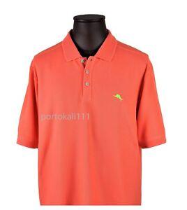 Tommy Bahama  Emfielder Polo Shirt Men's Small Dark Coral Short Sleeve NWT