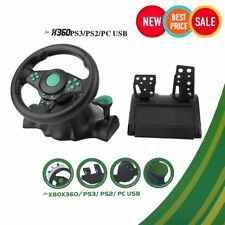 Gaming Vibration Racing Steering Wheel (22cm) and Pedals for XBOX 360 PS3 PC NL