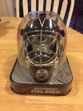 Edmonton Oilers Franklin Official NHL Hockey Mini Goalie Mask Brand New!