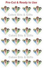 24x POWERPUFF GIRLS Edible Wafer Cupcake Toppers PRE-CUT Ready to Use POWER PUFF
