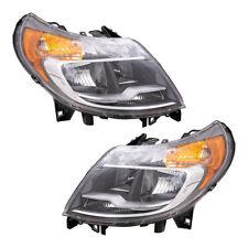 Pair Set Headlights w/ LED Daytime Running Lights for 14-19 RAM Promaster Van