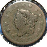 1816 1C Coronet Head Cent (54565)