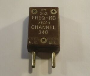 FT-243 Radio Crystal - 7625 KC - Channel 348 - Crystal Products - .093 Pins