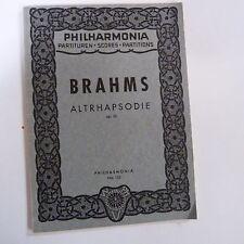 mini pocket score BRAHMS altrahapsodie op 53, Philharmonia 152