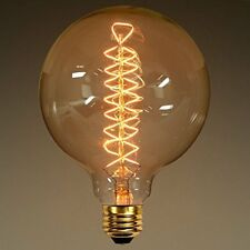 Edison tungsten filament G125 vintage antique Light Bulb E27 TORNADO FILAMENT, d