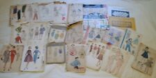 Vintage Lot 19 Sewing Patterns Children Ladies AS IS + 2 Huck Towel Patterns