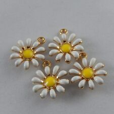 Multi Color Alloy Sun Flower Shape Enamel Charms Decor Pendants Crafts 20x 50992