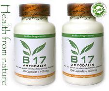 2 pack VITAMIN B17 Amygdalin 200caps/400mg. Buy 2 and save !