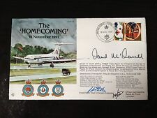 WING COMMANDER DAVID McDONNELL - SIGNED TERRY WAITE HOMECOMING F.D.C.  1991