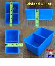 12 pcs Blue Divided 1 Pint / 16 fl oz Hanging Feed & Water Cage Cups Chicken