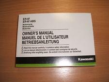 Owner's Manual Genuine Kawasaki ER-6f / ER-6f ABS