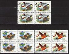 Russia 1989 Sc5783-85  Mi5965-67 4.00 MiEu  3 blocks  mnh  Ducks