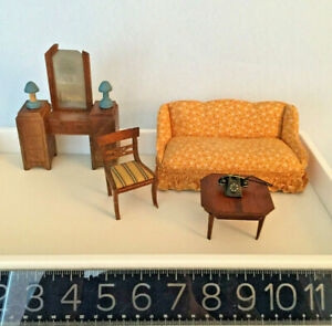 Doll House MINIATURE furniture/acce largLOT: Lynnfield, Strombecher, Renwal MORE