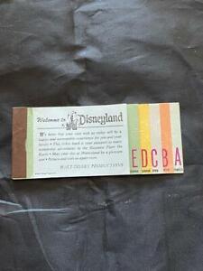 Vintage matching Disneyland Adult Ticket Book A B C D E - April 1972