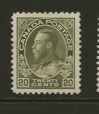 CANADA KGV SG213 20c Olive MINT Hinged Fresh Face Cat £45