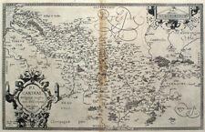 1579 Picardie Region - France, Ortelius Antique Engraved Map