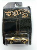 Hot Wheels 2018 67 Chevrolet Camaro Gold 50th Anniversary Mattel Diecast FVJ36