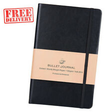Bullet Journal Dot Grid Hard Cover Notebook Diary Premium Thick Paper PU Leather