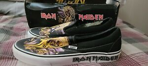 IRON MAIDEN Killers Eddie VANS Slip-on Shoes Men's Size 9.5 US  NEW (note damage