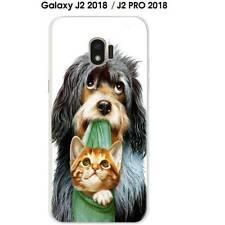 Coque Samsung Galaxy J2 2018 , J2 PRO 2018 Chien Chat