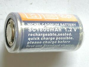 RC Rechargeable Battery for Glow Plug Starter 1.2V 1800mAH Sub C. UK Stock