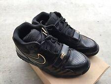 Nike Air Trainer 1 Mid Premium NRG Black Black Sz 8.5 NIB BB51 Gold