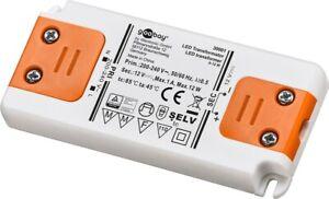 Alimentation LED transformateur extra plat 230v vers 12v 12w