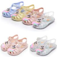 Summer Kids Toddler Girl's Cartoon Sandal Jelly Girl Baby Princess Shoes Gift