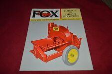 Fox Forage & Grain Blowers Dealers Brochure YABE10