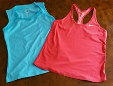 EUC Lot of 2 Women's S/Girl's XL NIKE DRI-FIT Running Tennis Tank Tops Shirts