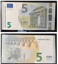 "Greece. 5 Euros  prefix ""YA02""  Greek  First series Draghi Signature GEM UNC"