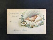 Carte Postale Ancienne - FAIRE PART DE NAISSANCE VIERGE