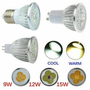 10X/4X MR16 GU10 E27 E14 9W 12W 15W LED Spot Spotlight Light Lamp Bulbs