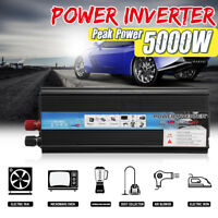 5000W Car Solar Power Inverter 12/24V DC to 110/220V AC Sine Wave Converter