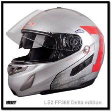 LS2 Ff369 Delta Klapphelm Motorradhelm Gloss Silver Red XS