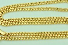 18k solid yellow gold flat curb link chain necklace 5.0 grams 20  inches