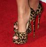Women Leopard Print Super High Heels Sexy Pumps Stilettos Platform Peep Toe Shoe