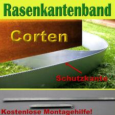 rasenkanten rasenkantenband beeteinfassung cortenstahl H 20cm und L 10 meter